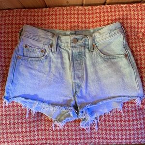 Levi's high waisted denim shorts!